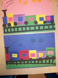 Mrs Weber S Art Class Kindergarten Shape Trains