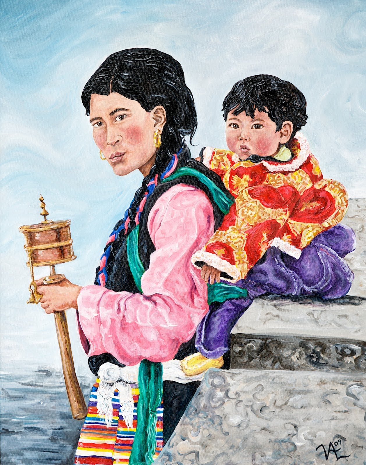 Paintings By Vicki: Mother and Child Paintings and Drawings
