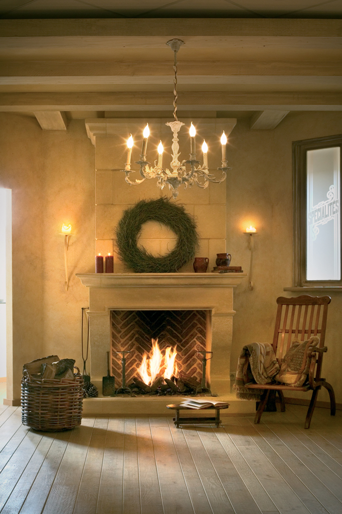 Through The French Eye Of Design Woodless Fireplaces