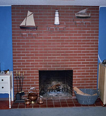 tallwiwisi: updating brick fireplace before after