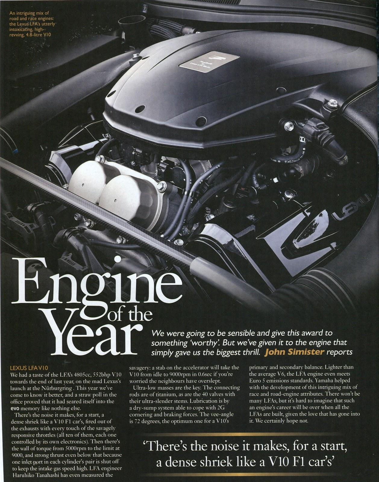 hight resolution of lfa s v10 engine wins best engine of the year award by evo uk