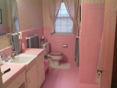 ~Cottage by the Sea ~: Pink Bathrooms