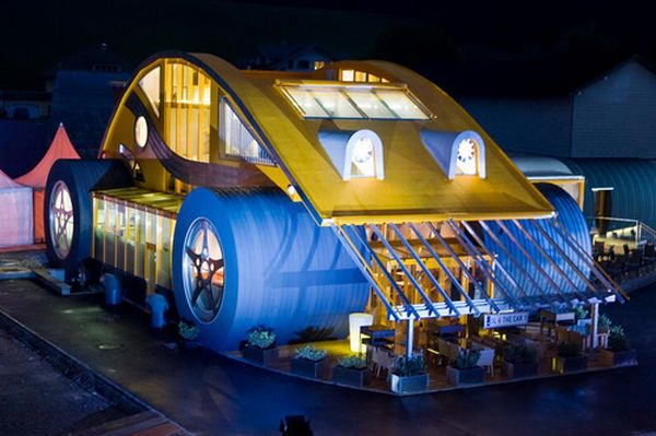 VW beetle inspired restaurant: 8