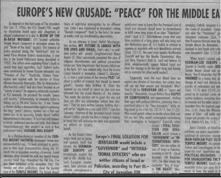 Europe's New Crusade