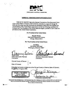 Pelosi signature on DNC document
