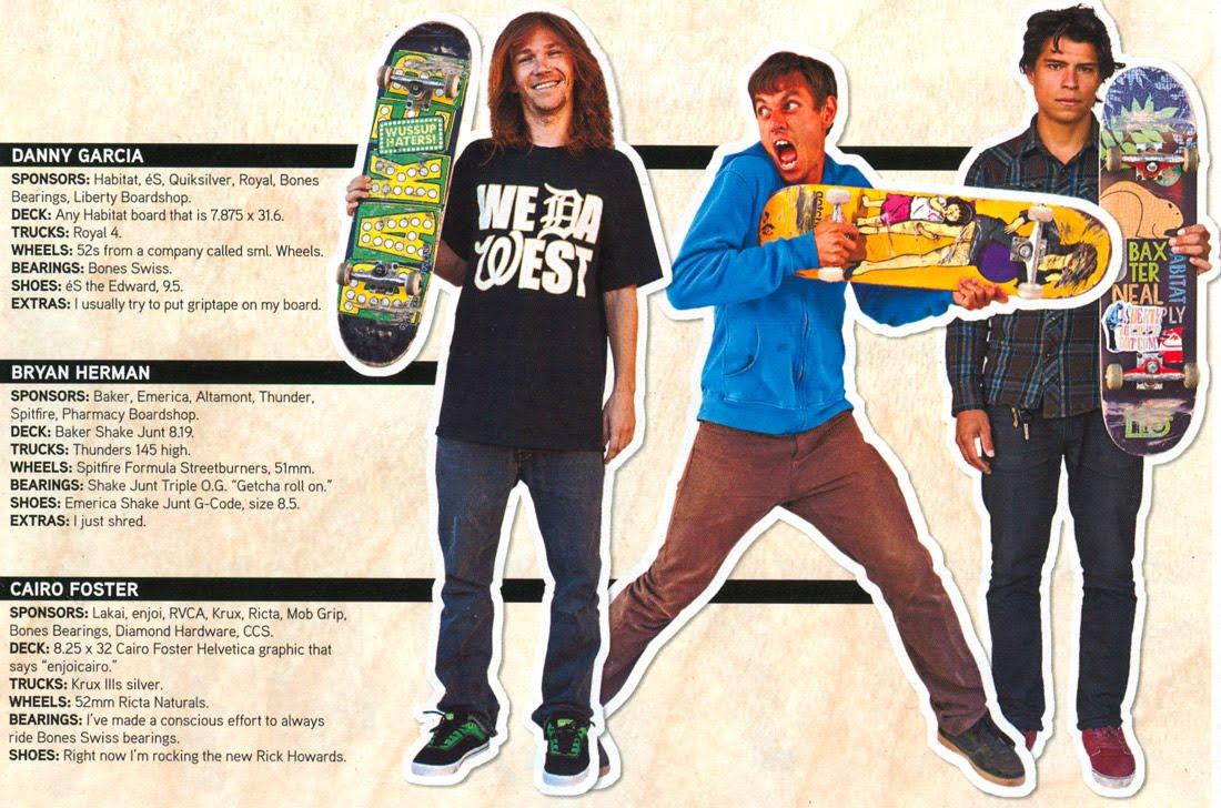 huge discount 3d0c6 fdaec Lo que monta cada uno y cada cual .. en la revista de este mes de  Transworld Skateboard.