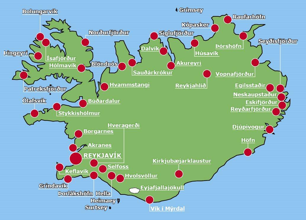 karta över vulkaner Islandsbloggen: Låga fluorhalter i askan från Eyjafjallajökull karta över vulkaner