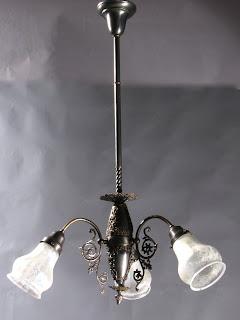 genuine antique lighting antique gas electric harp chandelier