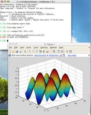 Short IT recipes: Matlab 2008b: Execute matlab from python