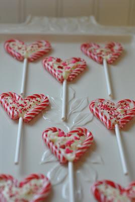 Candy Cane Heart Sticks