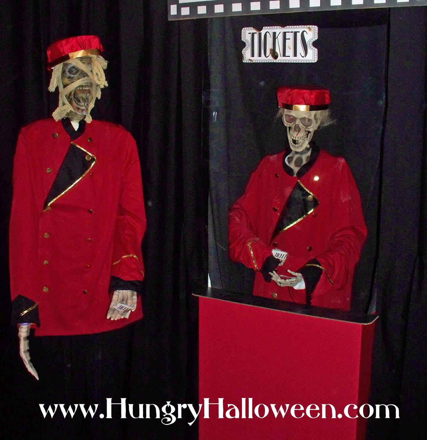 Halloween Decorations Catacomb Cinemas Including Zombie Ticket Takers