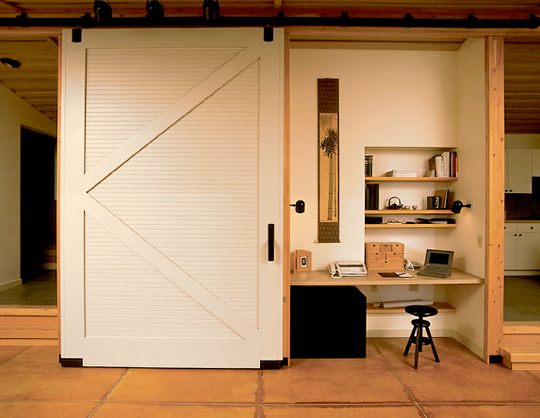 Barn Door Kitchen Cupboards