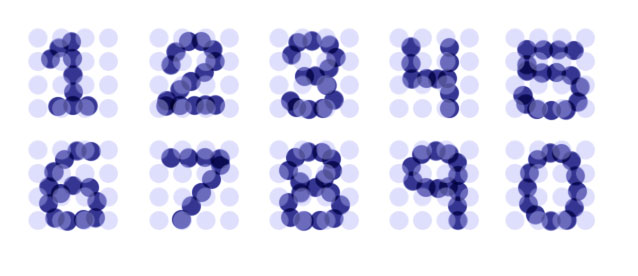 Graphic Times: Numbers In Dots