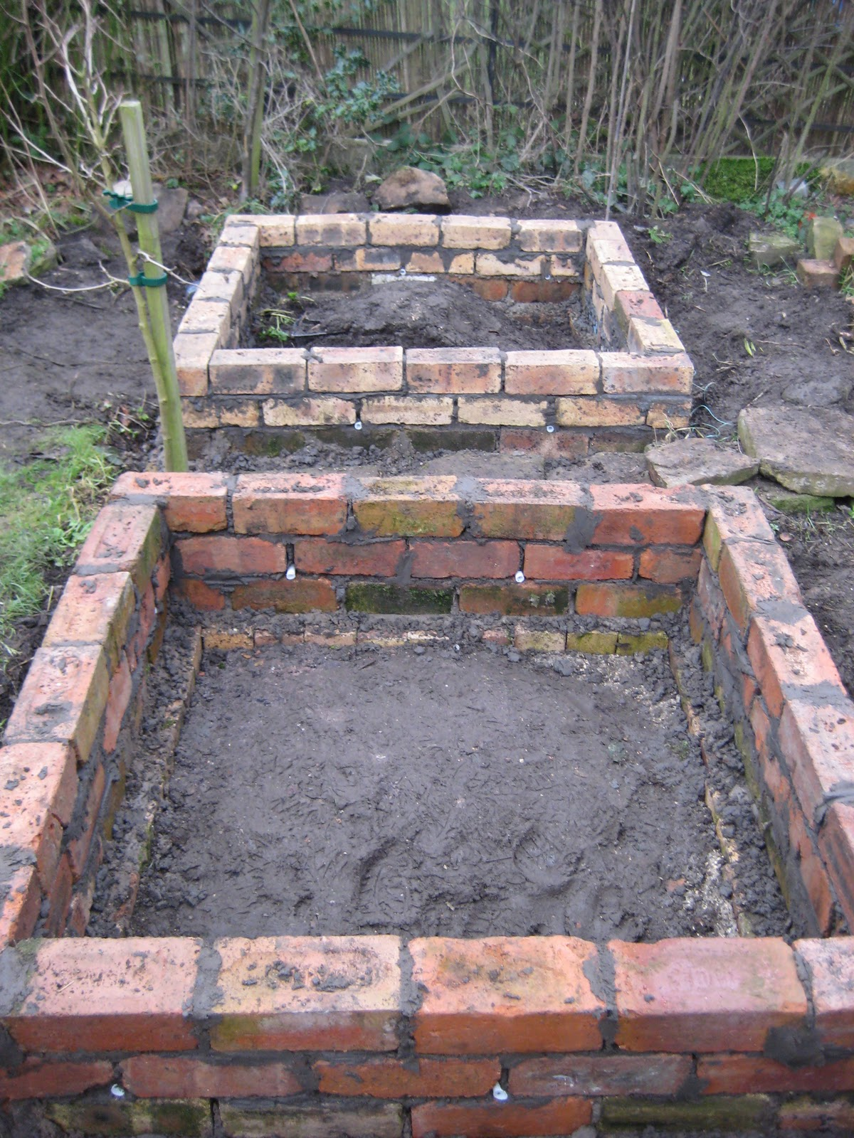Bricks, Raised beds and Beds on Pinterest