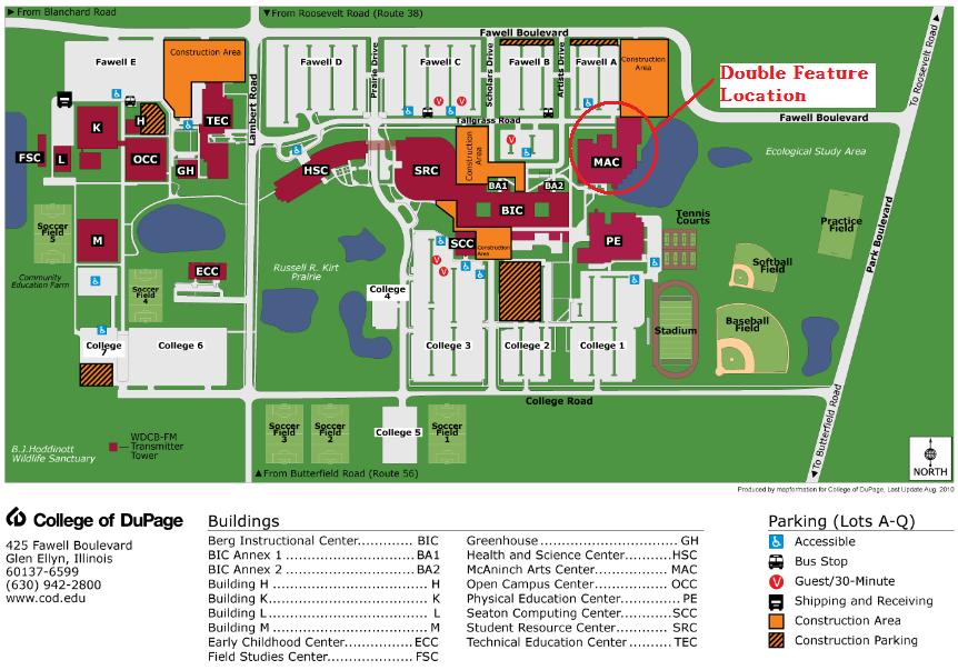 College Of Dupage Map College Of Dupage Campus Map | World Map Gray
