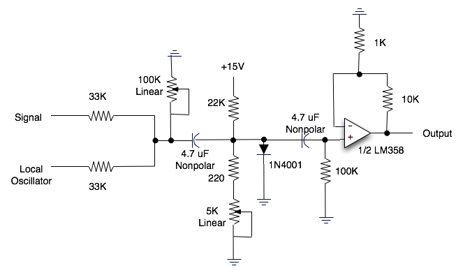Sequence 15: Unbalanced Diode Mixer
