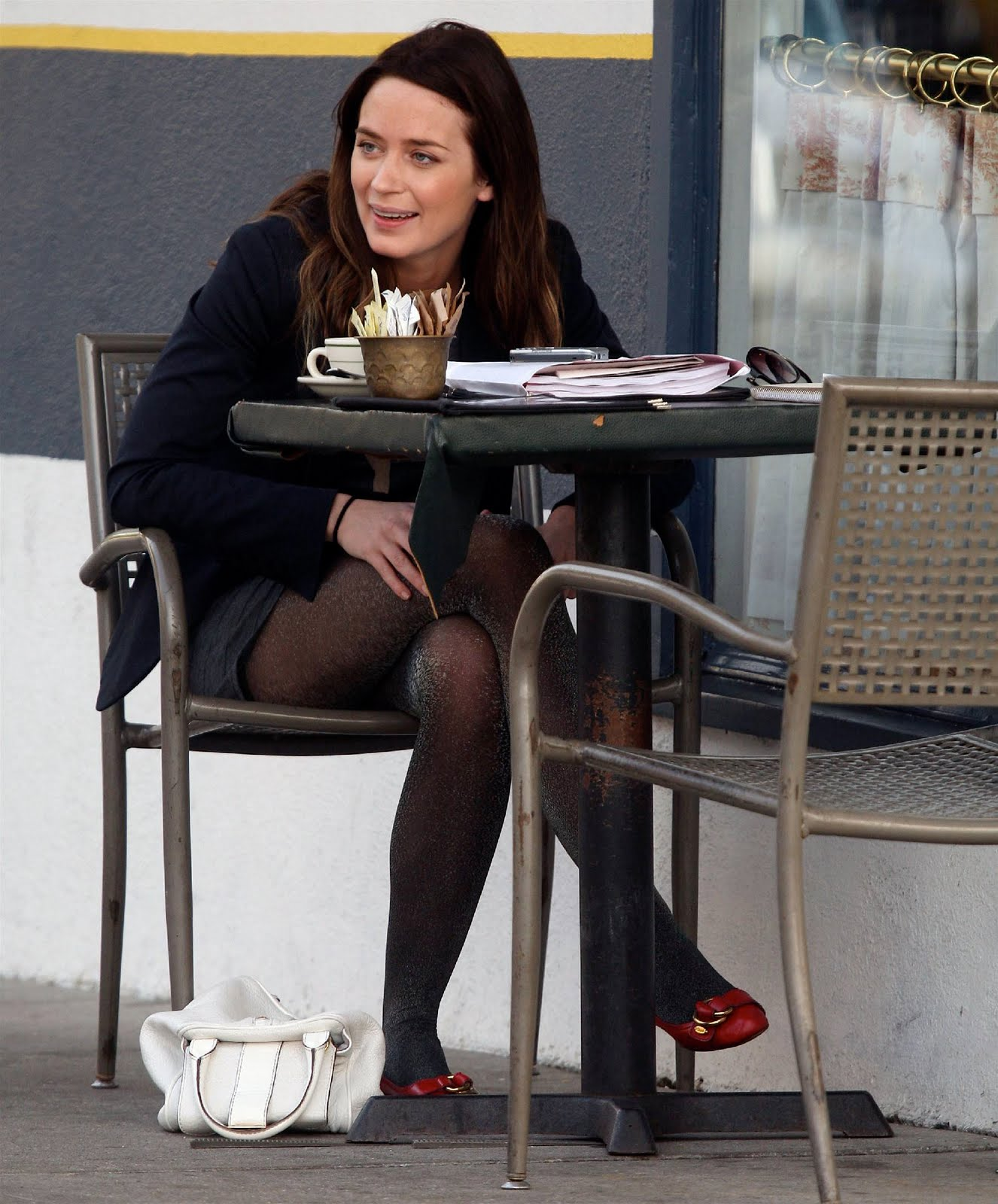 Celebrities in Pantyhose and Tights: Emily Blunt in pantyhose Emily Blunt Movies