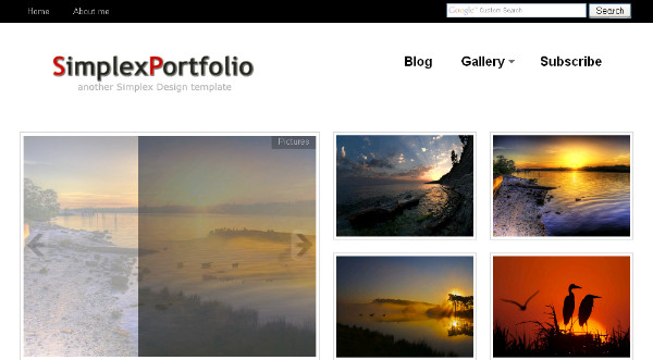 Blogger template gallery.