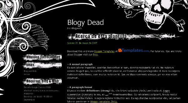 Heavy Metal Blogspot Template