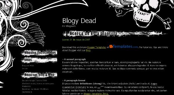 Heavy Metal Blogspot Template