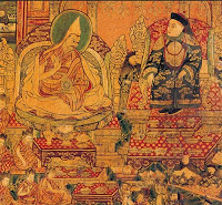 The Great Fifth Dalai Lama with Shunzhi Emperor.