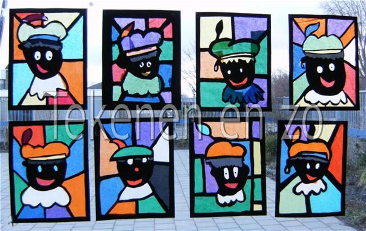 kleur kunst glas in lood
