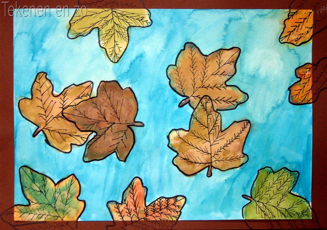 Magnifiek Tekenen en zo: Dwarrelende herfstbladeren @BL24
