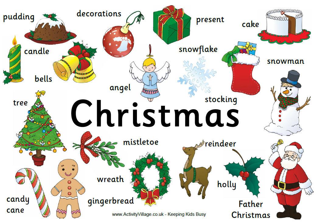christmas decoration vocab christmas ideas - Christmas Poster Ideas
