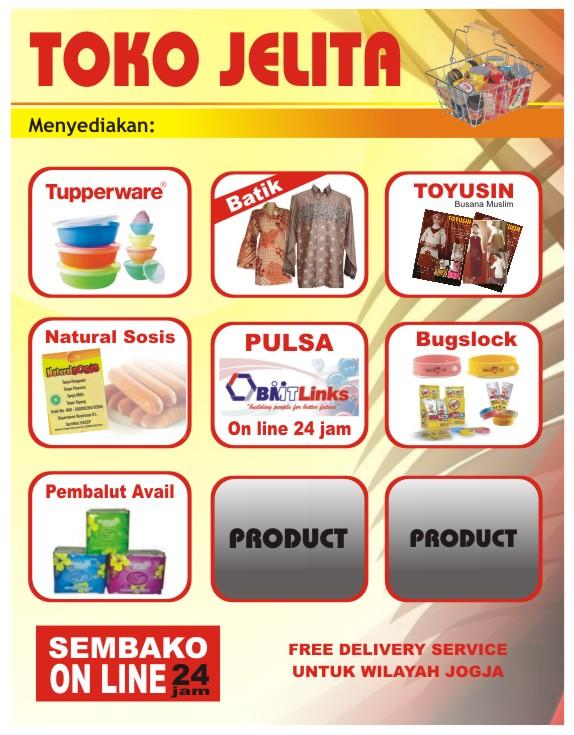 Brosur Toko Sembako Contoh Desain