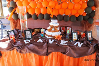 Abda S Party Decorations Baby Shower Orange And Brown