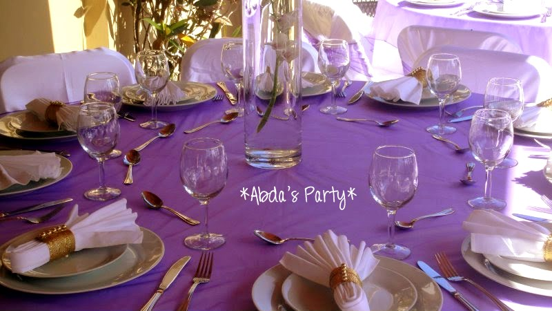 Abdas Party Decorations Purple and White Wedding