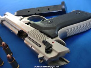 My Small Arsenal: Beretta M92 Chrome Bruni Blank Gun for Sale