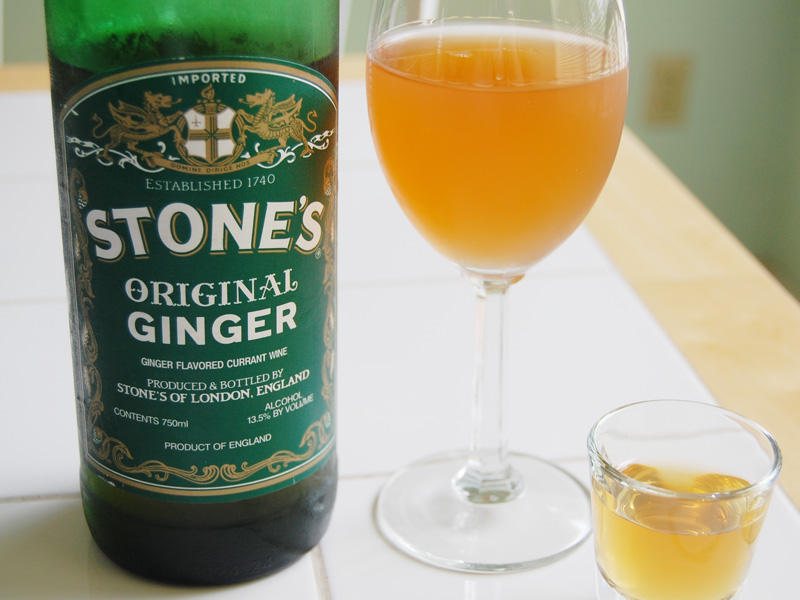 It is an image of Critical Stones Ginger Wine Red Label