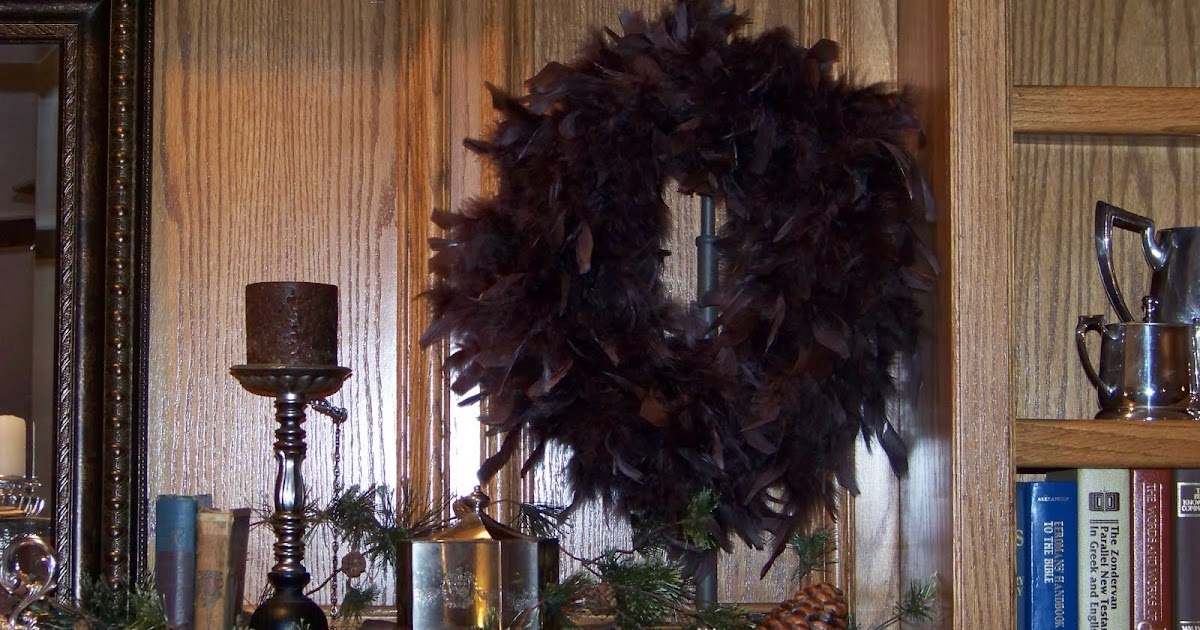 Entry1 Silver Trappings How To Make A Feather Wreath Cheap