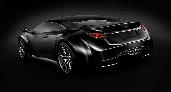 car in the new world: peugeot shine sport car concept is designed