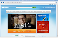 Sito Microsoft.com con immagine I'm a PC and human being