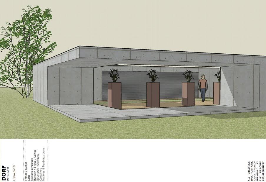 plan extension maison toit plat. Black Bedroom Furniture Sets. Home Design Ideas