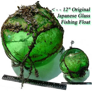 Traveling across the sea for 2-4 decades this 12 inch Japanese glass fishing float was found on the shore at Newport, Oregon!