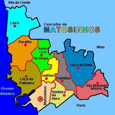 mapa matosinhos Diário da turma: Concelho de Matosinhos mapa matosinhos