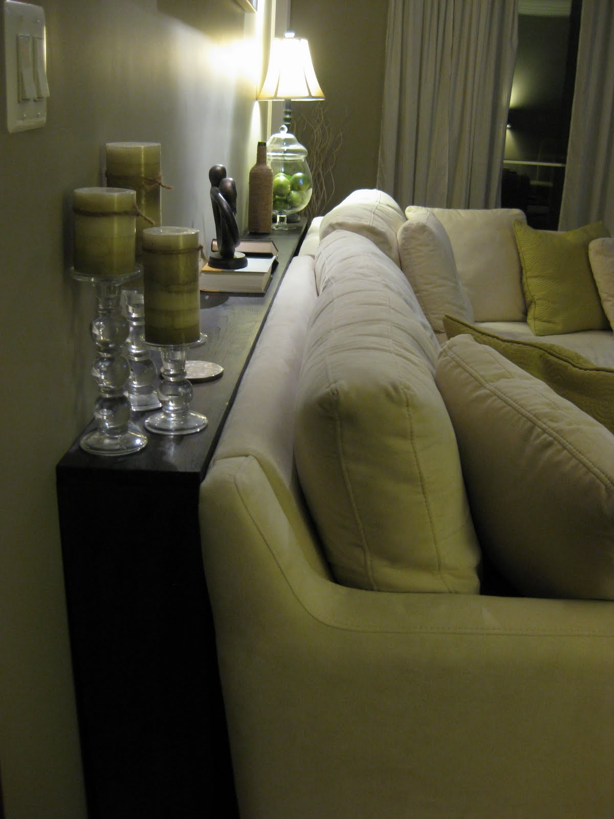 Behind The Sofa Table L Shaped Designs For Living Room India Where North Met South Faux