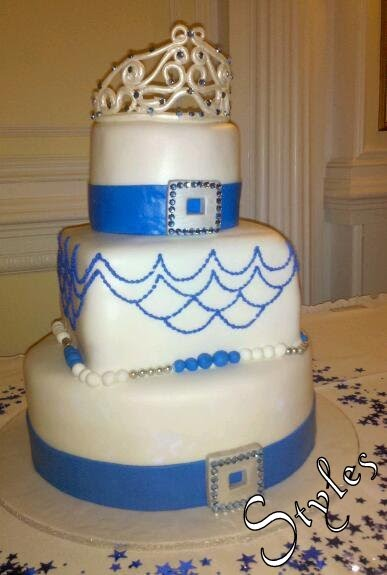 Cakes By Styles Royal Blue Sweet Sixteen Cake
