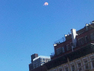 "The ""UFO"" spotted in Manhattan."