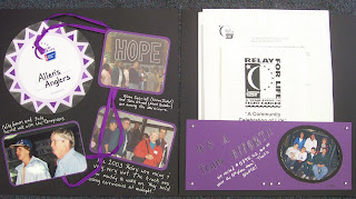 Relay For Life Scrapbook Layout
