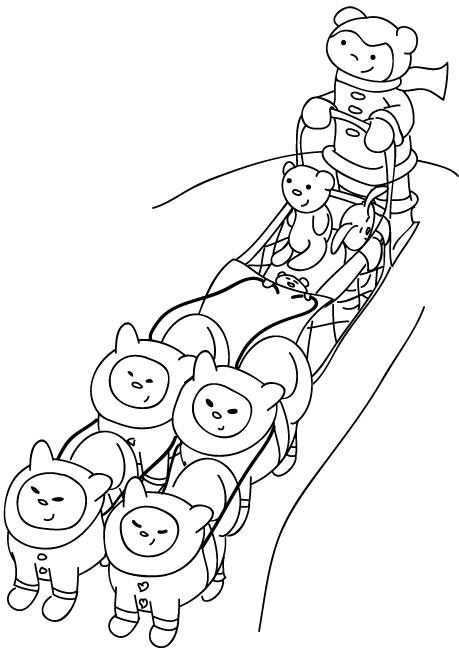 Mural Tsb Sled Dog Jumping | Dog coloring page, Dog sledding, Snow ... | 650x459
