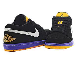 105b7b2ac3c604 Nike Dunk Shoes  Review Nike Air Jordan 1 Low Phat Lakers ...