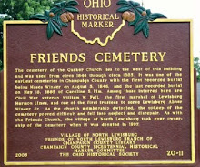 Friends Cemetery Plaque - North Lewisburg - O.H.S. Historical Marker