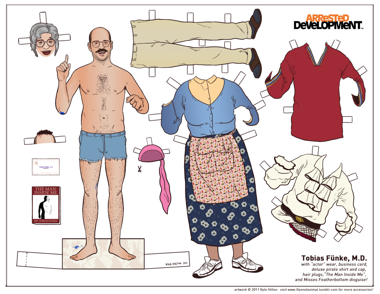 d51a21b69fd Popped Culture  Tobias Fünke  The World s First Analrapist   Paper Doll