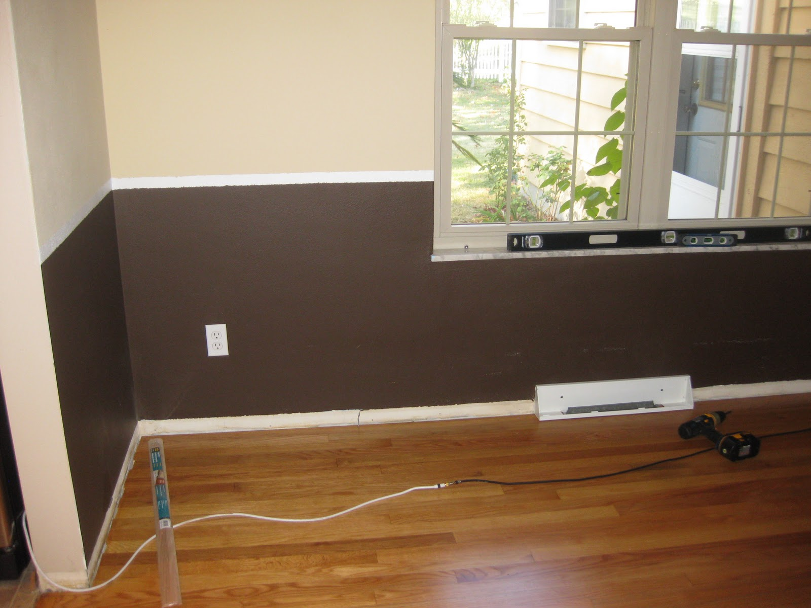 New and ...Improving?: Chair Rail and Floor Trim in the Dining Room