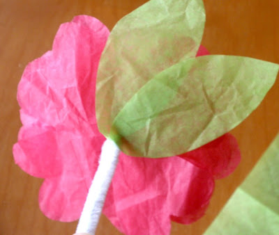 Gluing Tissue Paper Crafts For Kids