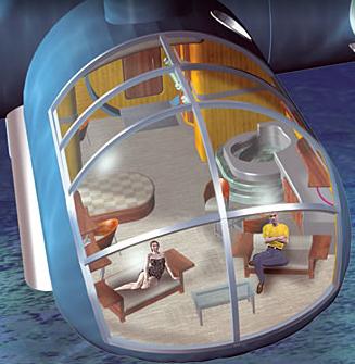habitación hotel poseidon - hotel sumergido a 12 metros de profundidad